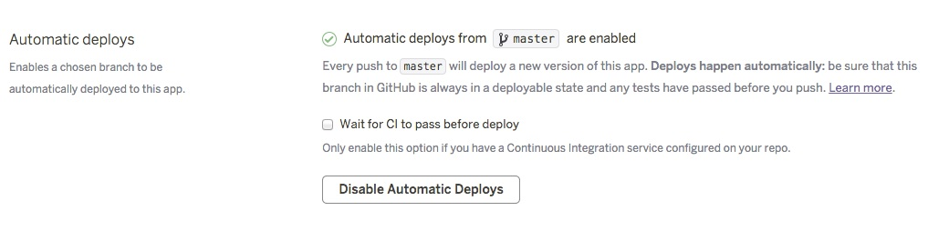 automatic deploys